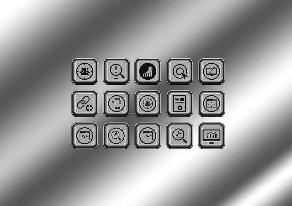 dessin clavier stylisé avec icones internet